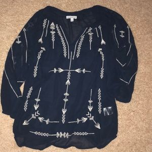 Patrons of Peace - Tribal blouse NWOT
